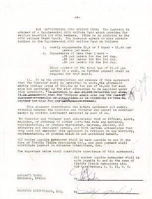 Judy Garland - Contract Signed 07/20/1962