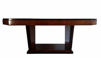 French Art Deco rosewood Dining table / desk