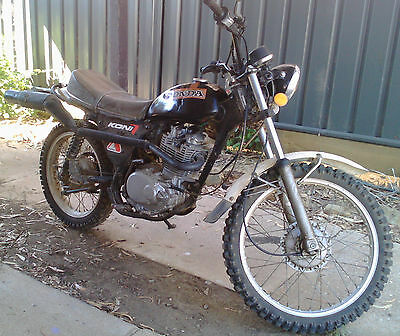 1976 Honda 350 bored to 410 trail Bike. Great VMX project or restore back
