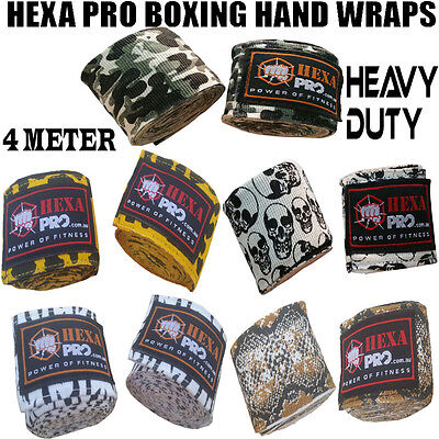 NEW HEXA PRO Hand Wraps Boxing MMA UFC Wrist Guards cotton Bandages gloves strap