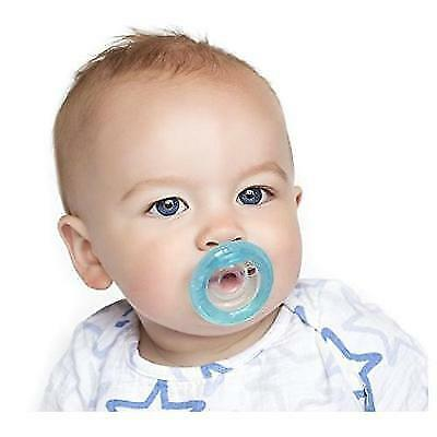 Nuby 2 Piece Natural Flex Silicone Oscillating Cherry Pacifier, 6-12 Months New