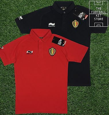 Belgium Polo Shirt - Official Football Training Wear - All Sizes / Black or Red