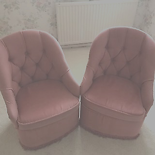 Pair of Pink bedroom chairs