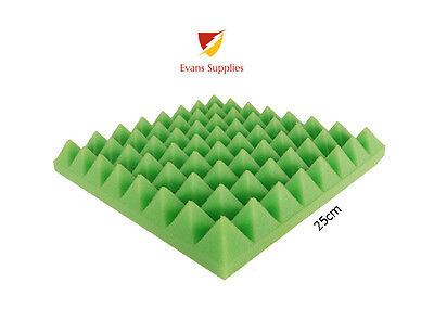 176X GREEN Acoustic Foam Pyramid Tiles Studio Sound Room Music PACK COVER 11m2