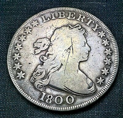 1800 Draped Bust Dollar VG Details