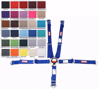Jr Dragster Racing Harness Sfi 16.1 5 Point Cam Lock Cobalt Blue Or 30 Colors
