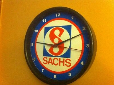 Sachs Logo Motorcycle Snowmobile Garage Mechanic Wall Clock Man Cave Sign