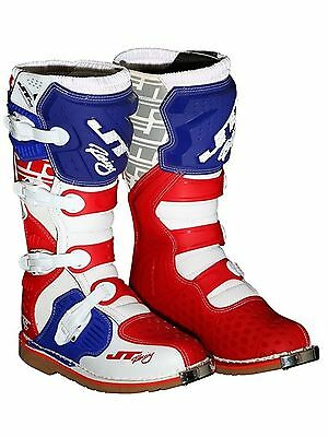 JT Racing White-Red-Blue 2017 Podium MX Boot