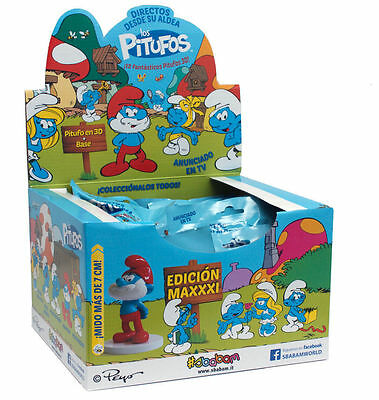 Pitufos Smurfs - Sbabam 7 cms high with magazine - Exhibitor 12 Units