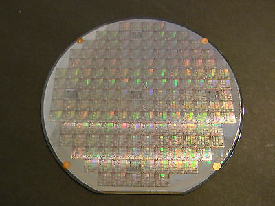 "6"" Silicon Wafer Texas Instruments TMS371 and 7 other wafers"