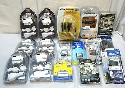 Mixed Lot of 16 ~ Belkin QFX Xtreme Motorolla ~ Cables Batteries 3-in-1 Chargers