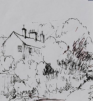 George Cunningham Original Pen & Ink Drawing #3 by Sheffield Artist