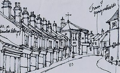 George Cunningham Original Pen & Ink Drawing #6 by Sheffield Artist