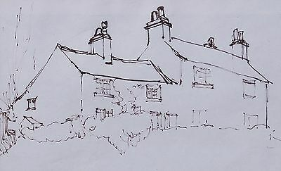 George Cunningham Original Pen & Ink Drawing #9 by Sheffield Artist