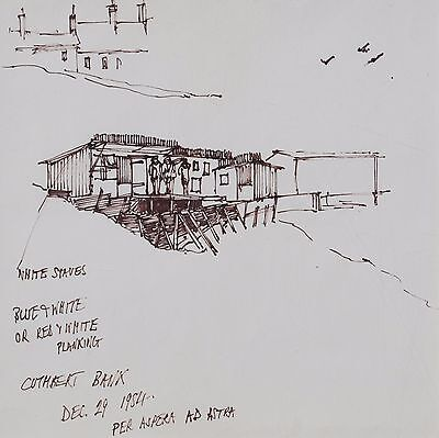 George Cunningham Original Pen & Ink Drawing #1 by Sheffield Artist