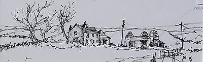 George Cunningham Original Pen & Ink Drawing #2 by Sheffield Artist