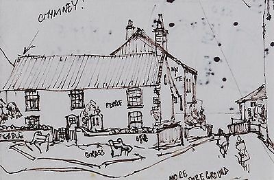 George Cunningham Original Pen & Ink Drawing #7 by Sheffield Artist