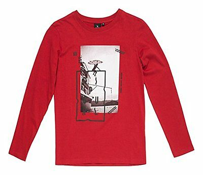 Rip Curl Step By Step Ls Tee Maglia Manica Lunga, Pompeian Red, 14 (k2k)