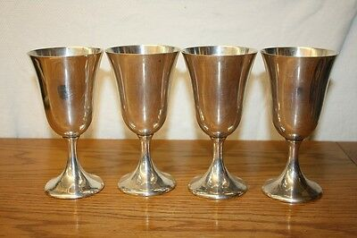 Set of 4 Vintage Amston Sterling Silver Goblets Style #70  - Free Shipping!