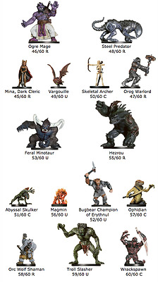 Dungeons & Dragons - Angelfire Miniatures - Near-Complete Set - Lot of 59 Minis