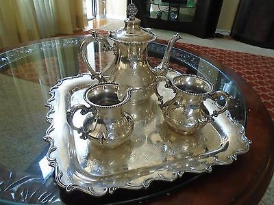 Vintage Homan Silver Plated Tea Set.