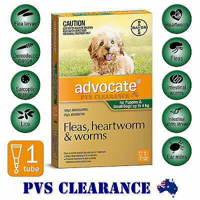 Advocate Green 1 for Puppies & Small Dogs Up To 4 kg -  1 Pack - Single Pack