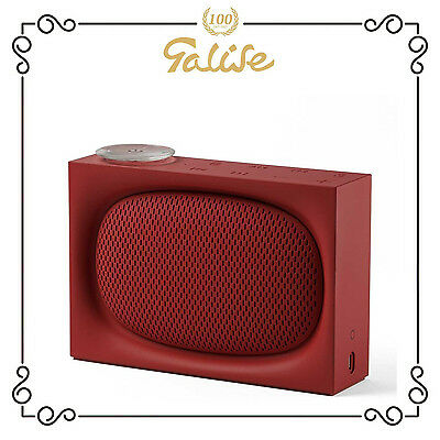 Lexon Ona Radio FM, wireless e bluetooth, ricaricabile con usb, rosso LA102R