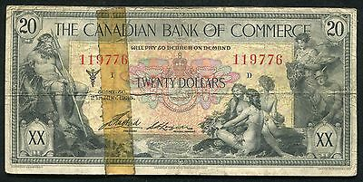 1935 $20 The Canadian Bank Of Commerce Toronto, Canada Chartered Banknote