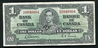 BC-21c 1937 $1 ONE DOLLAR BANK OF CANADA GORDON/TOWERS VERY FINE