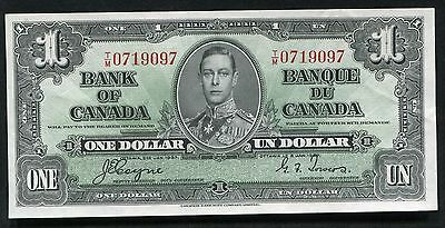 BC-21d 1937 $1 ONE DOLLAR BANK OF CANADA COYNE/TOWERS GEM UNCIRCULATED