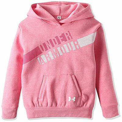 Under Armour, Favorite Fleece Hoody, Felpa Con Cappuccio, Bambina, Rosso (x7C)