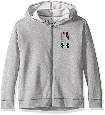 Under Armour, Favorite Fleece Full Zip 1287517, Felpa, Bambina, Grigio (o5T)