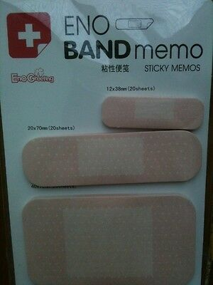 Note pad band aid sticky notes - Get Well soon memo- Novelty health stickies