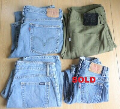 Levi's Jeans CHOICE OF Boot Cut 518, green 511, Signature Mid Rise, Size 7x 550