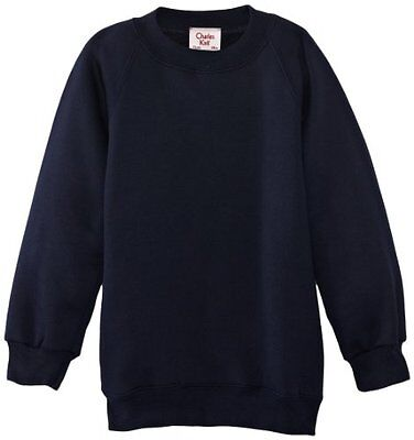 Charles Kirk Coolflow - Felpa, colletto tondo, , unisex, Blu (Navy blue), (h8x)