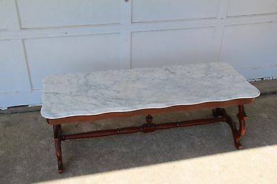 1960s Mid-Century Danish Modern Marble Top Coffee Table