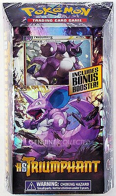 60-Card Nidoking Royal Guard HS Triumphant Theme Deck Pokemon inc 1 Booster Pack