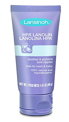 Lansinoh HPA Lanolin Natural Nipple Cream for Breastfeeding Mothers, 40 Grams