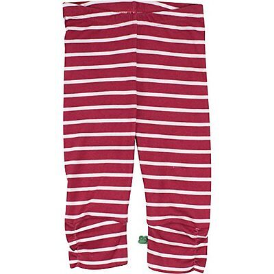 Fred's World by Green Cotton Stripe 3/4, Leggings Bambina, Rosso (Red (r7I)