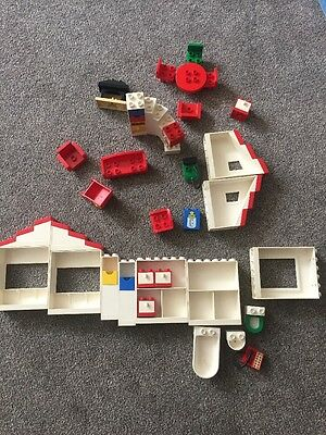 vintage lego duplo house accessories Fireplace Phone Hoover Bathroom Kitchen