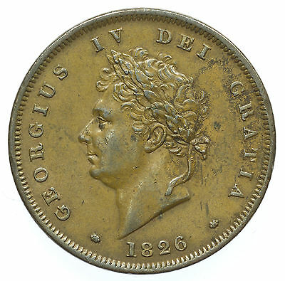 Great Britian, George Iv Penny, Nef, 1826
