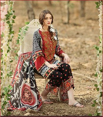 Firdouse Lawn Suit Embroidered Unstitched Salwar Kameez New Arrival 2017