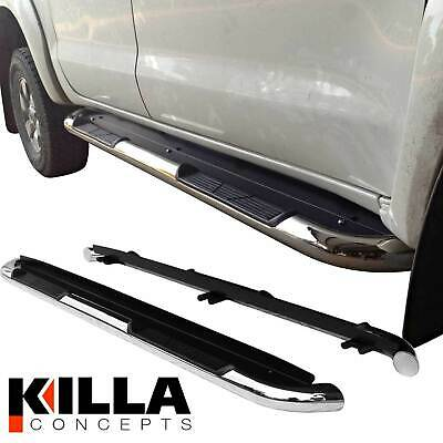 Toyota Hilux Dual Cab Stainless Steel Side Step Rails Running Board 1990 mm New
