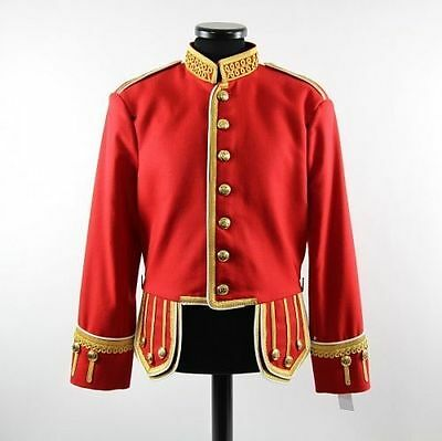 100%Wool Brand New Red Military Piper Drummer Doublet Tunic Pipe Band Red Jacket