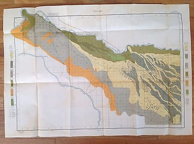 "1901 USDA Soil Map CALDWELL SHEET IDAHO  30 3/4"" X 21 1/2""     FRAME IT!"