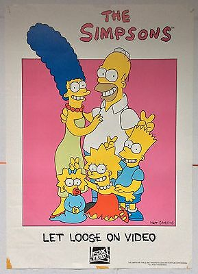 The Simpsons / Original Vintage Large Video Film Poster /