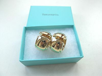 1 Paar TIFFANY & CO Wide Hoop Creolen gefertigt in 750 Gold + Box + Rechnung