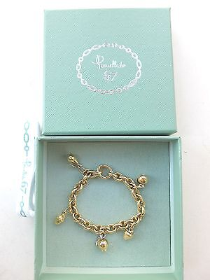 Original POMELLATO Fruit Charm Armband in 750 Gelbgold 68,6 g + BOX