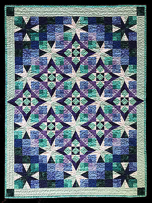 """Hand Quilted Baby Quilt - approximately 37"""" x 50"""""""