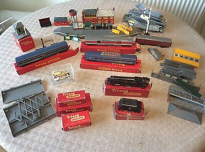 Vintage Tri-Ang Job Lot Train Coaches Ect Spares, Repair, Sold Untested